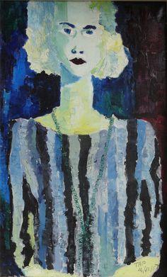 Tap Werkman Angelina, 1956 olieverf op doek,coll. Musem Dr8888, langdurige bruiklen part. coll. Painting, Art, Shop Signs, Art Background, Painting Art, Kunst, Paintings, Performing Arts, Painted Canvas