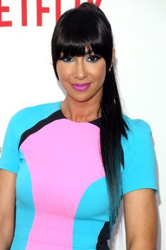 12 Reasons To Give Your Ponytail An Upgrade #refinery29 Jackie Cruz  http://www.refinery29.com/celebrity-ponytail-pictures#slide8  Jackie Cruz of Orange Is the New Black makes a case for a simple, stick-straight ponytail.