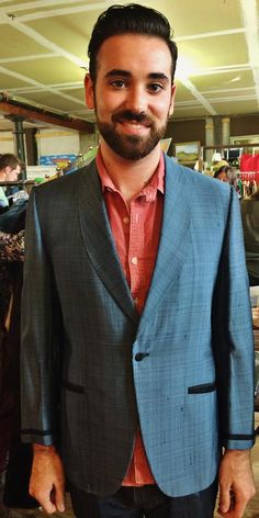 Nate in his new Vintage Men's Sharkskin Jacket. What a great guy. www.wishlistconsign.com