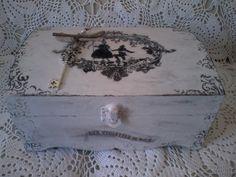 Cofanetto legno Shabby Chic decorato a mano con trasferimento d'immagine : Scatole, cofanetti di lara-design-creations