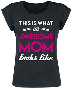 Awesome Mom Girl-Shirt schwarz S