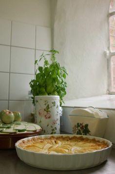 Æbletærte med karamelbund