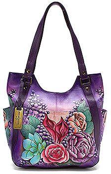 Women's Anuschka Multi-Pocket Hobo Lush Lilac