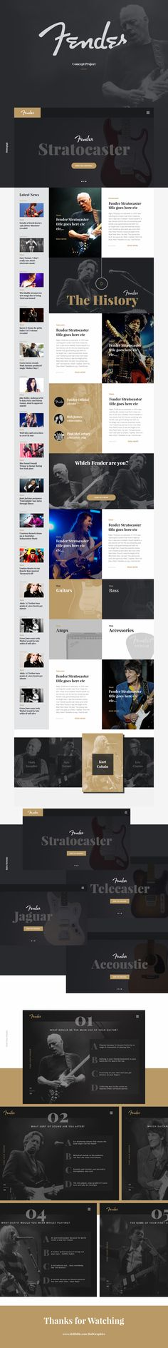 Website design from http://keithhoffart.weebly.com/contact.html Fender Concept Page by Rob James