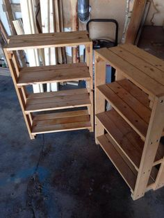 Pallet Furniture Designs, Wooden Pallet Projects, Wood Pallet Furniture, Woodworking Projects Diy, Woodworking Plans, Pallet Home Decor, Diy Home Decor, Diy Furniture Building, Diy Storage Shelves