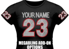Mega Bling Addon options for sports shirts  by InkDropsNStitches, $10.00