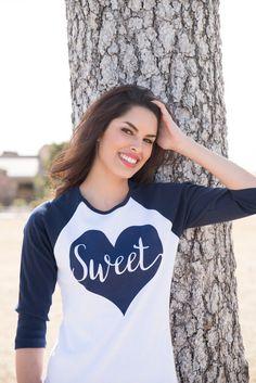 Heart Tee. Womens Baseball Shirt. Baseball Tee. Graphic Tee. Raglan. Tshirt