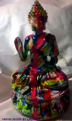 tibetan psycho by PostDollsARTuNIVERSE on Etsy