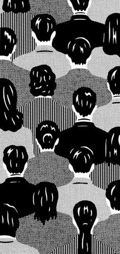 black and white, illustration