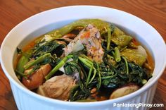 Another variation of Sinigang and one of the tastiest — perhaps, is the Sinigang na Buto-buto with gabi. Sinigang is a Filipino sour soup dish composed of either meat or seafood. The common meats used to make this dish are pork and beef while fish and shrimps are two of the common seafood ingredients. Aside from meat and seafood, this dish is also comprised of different local vegetables that are available whole year long.
