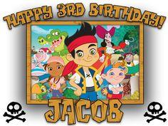 Personalized Custom Birthday T-shirt Disney Jake and the Neverland Pirates