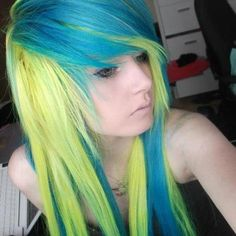 21 Best 03 - Hair: Teal - Green - Yellow images in 2018