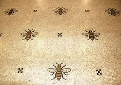#Bee mosaic floor in #Manchester Town Hall, UK