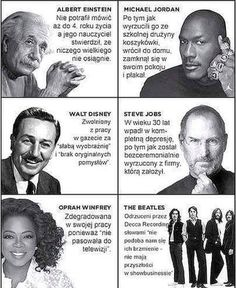 System MLM - 12 memów przydatnych w marketingu wielopoziomowym Sport Inspiration, Daily Inspiration Quotes, Daily Quotes, Motivational Quotes For Job, Positive Quotes, Inspirational Quotes, Steve Jobs, Michael Jordan, Famous Failures