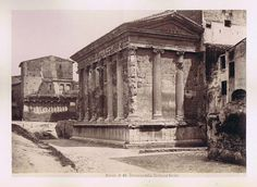 ROME Temple of Portunas 4 other Italy Antique Albumen Photographs