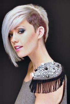 Brilliant Side Shave For Women And Funky Hairstyles On Pinterest Short Hairstyles Gunalazisus