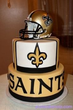 Ready for a Sweet Victory! New Orleans Saints cake by Pure Cake