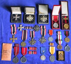 Lot of German medals and badges
