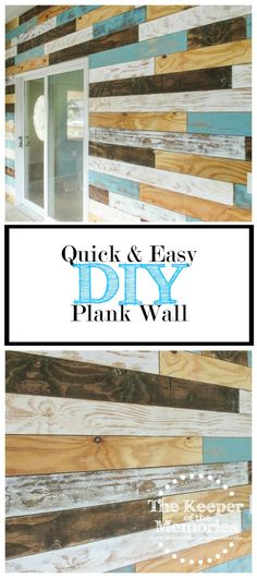 Ready to make your own distressed plank wall? Check out this helpful post full of tips.