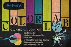 ColorLab Photoshop Vintage Comic Kit by RetroSupply Co. on @creativemarket Vintage Comic Books, Vintage Comics, Affinity Photo, Retro Color, Retro Art, Color Kit, Colour, Affinity Designer, Inspiring Art