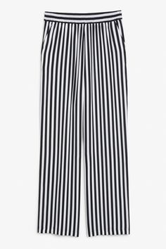 Relaxed pull-on trousers - Black stripes - Trousers & shorts - Monki GB
