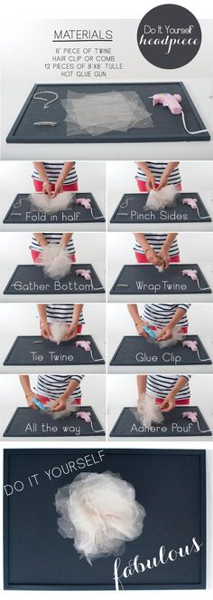 DIY tulle flower tutorial.