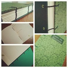 Recipes book | Livro de receitas | Bookbinding | Costura Copta Etiope | by Fernanda Pasqualeto