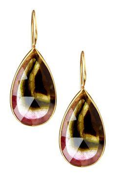 Pamela Huizenga    Multicolor Tourmaline Earrings