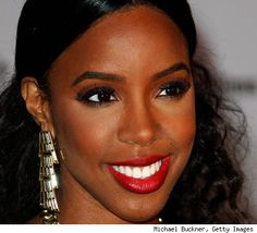 Make Up, Hair, and Earring Inspiration by Kelly Rowland