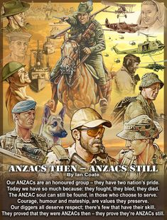 This site showcases Australian Military Artworks, Poems and Soldier's Ballads created by military artist, Ian Coate. Military Veterans, Military Art, Military History, Anzac Memorial, Memorial Poems, Daddy Yankee, Selena Quintanilla, Anzac Day Australia, Anzac Soldiers