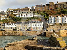 The harbour in the village of Porthleven in Cornwall