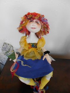 Charlie Patricolo-cloth doll maker.  I love her hair.