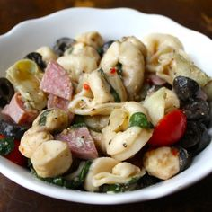 Potluck Tortellini Pasta Salad - Perfect for a 4th of July picnic!