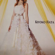 #weddingdress #bridalfashion  #novias #sposa #gown #dress  #mariage #ウエディングドレス #プレ花嫁#カラードレス#結婚準備#フラワー#ドレス#kiyokohata  #キヨコハタ