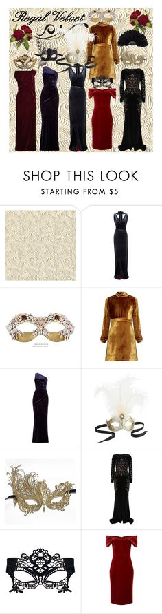 """Regal Velvet: Masquerade"" by kristenyun on Polyvore featuring Masquerade, A.L.C., Jessica Wright, Pier 1 Imports, Zuhair Murad, Emilio De La Morena, Roland Mouret, contest, royal and polyvoreeditorial"