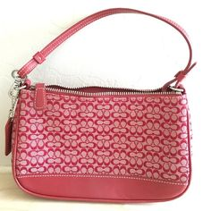 COACH cc logo purse COACH  red cc logo purse. Carried only one time. No visible marks or defects. ***see matching shoes in separate listing*** Coach Bags Mini Bags