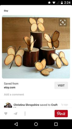 Lovely Wood Slice Crafts is part of Wood crafts Wedding - If you are looking for something fun and interesting to decorate your home, I have prepared for you a great collection of wood slice decor ideas that will Wood Slice Crafts, Wooden Crafts, Diy And Crafts, Arts And Crafts, Wood Crafts That Sell, Crafts Cheap, Creative Crafts, Fall Crafts, Deco Nature