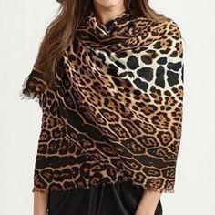 Hot Leopard Print Scarf