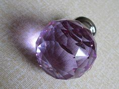 "1.37"" Knob Knobs Glass Knobs Crystal Knob Dresser Knob Drawer Knobs Pulls Handles Silver Purple Kitchen Cabinet Knobs Sparkly Shiny Furinture Bling"