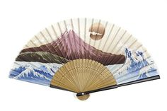 DawningView Japanese Handheld Fan, Ukiyo-e Art Prints (Mount Fuji, with sleeve and tassel) Item# 6659 - Click image twice for more info - See a larger selection of folding fan at http://www.zbestsellers.com/level.php?node=146&title=asian-folding-fans - woman, accessories, folding fan, woman fashion. asian fan