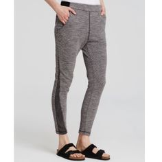 Free people slate combo medium textured knit pants In new condition with original tags on, retails for 128$ Free People Pants Track Pants & Joggers
