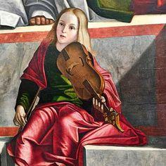 Laudate eum in psalterio et cithara. (Psaume 150 3). (Vittore Carpaccio 1526 Galerie de l'Accademia Venise)