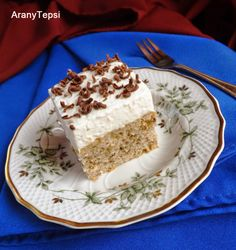 Hungarian Desserts, Hungarian Recipes, Hungarian Food, Poppy Cake, Homemade Sweets, Vanilla Cake, Baked Goods, Food And Drink, Pudding