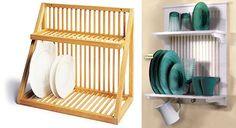 Hanging dish rack ideas!