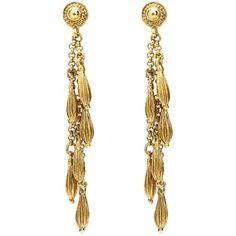 Gypset medallion drops earrings (580 BRL) ❤ liked on Polyvore featuring jewelry, earrings, 24k earrings, 24 karat gold earrings, medallion earrings, 24 karat gold jewelry and gypset