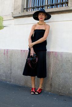 Best Street Style at Milan Fashion Week Spring 2014 | POPSUGAR Fashion