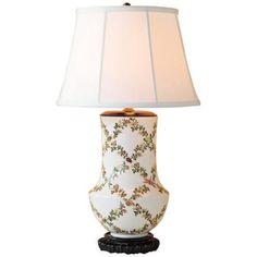 Port 68 Jour De Juin Floral Porcelain Table Lamp
