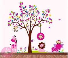 Decoración Infantil Safari Niña/ Bebe / Vinilos Adhesivos - $ 180.000 en MercadoLibre