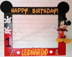 mickey mouse frame photo booth photo prop digital file - Mickey Mouse Photo Frame