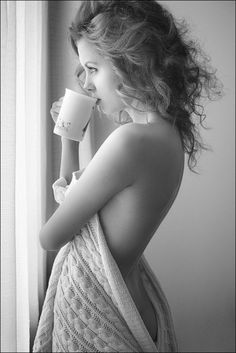 coffee in the morning... a musthave pose.... maybe a pre wedding shot?